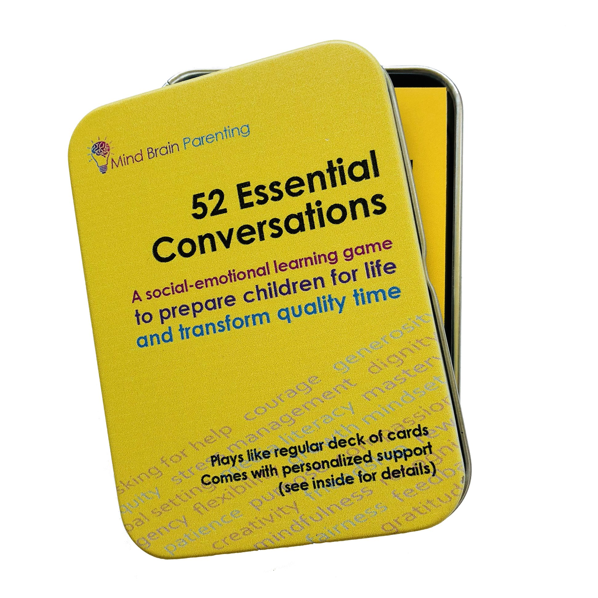 52 Essential Conversations: The Life Skills Card Game for Age 5 to Adults - Builds Social Emotional, Critical Thinking, Growth Mindset & Vocabulary Skills - Created by Harvard Educators