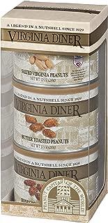 product image for Virginia Diner - Triplet Peanut Gift Set (Salted Virginia Peanuts, Honey Roasted Peanuts & Butter Toasted Peanuts), Three 10 Ounce Tins