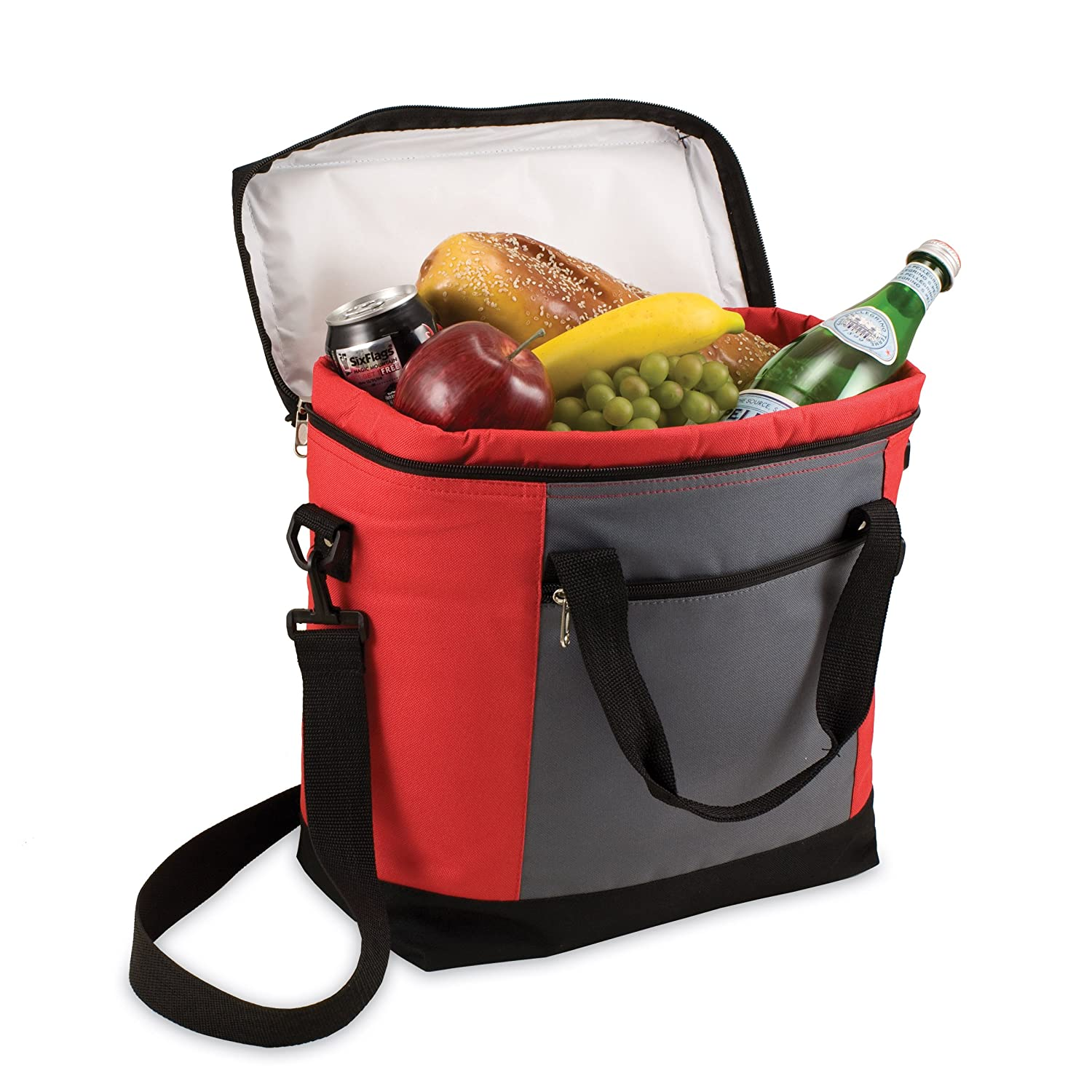 amazoncom picnic time insulated cooler tote black sports fan coolers sports u0026 outdoors