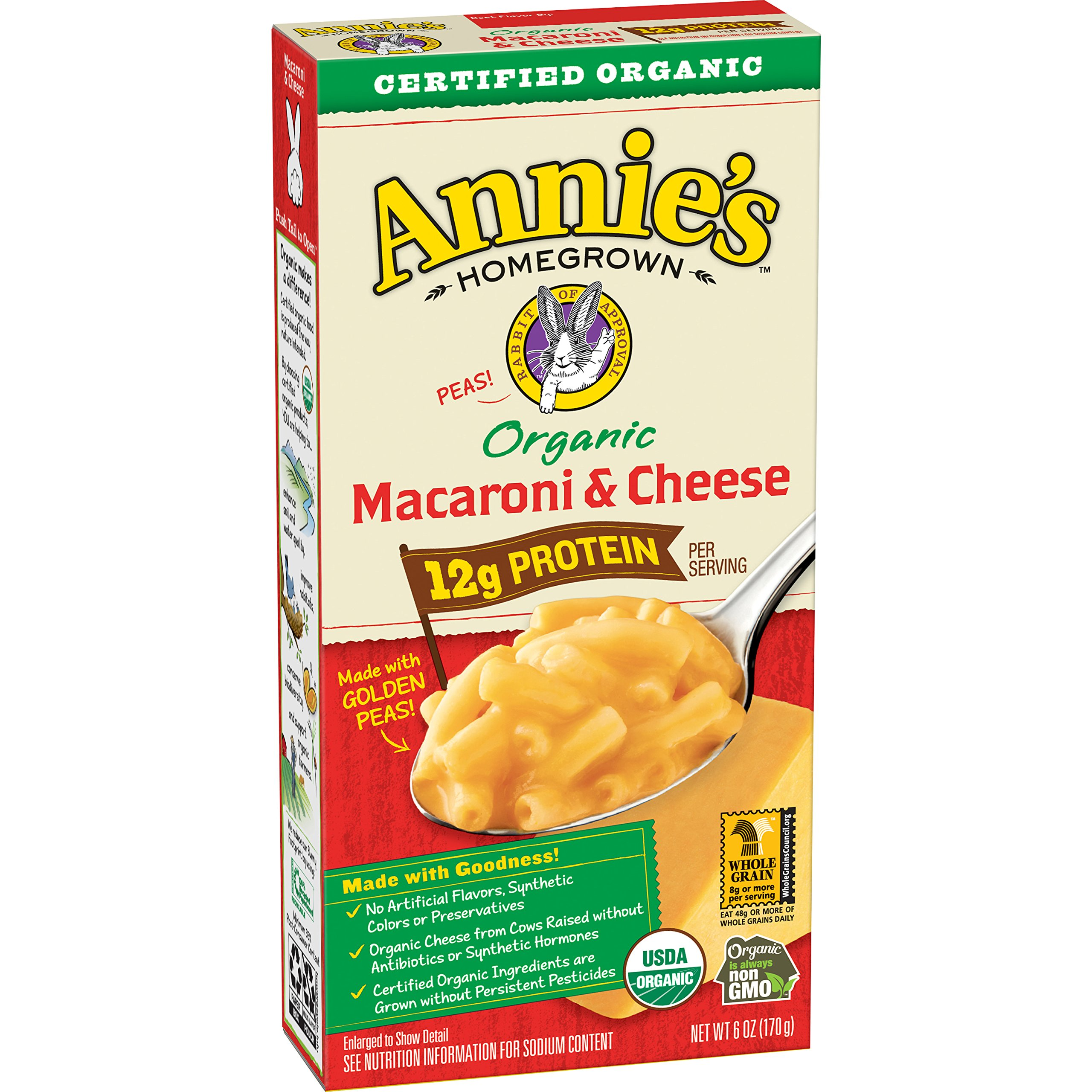 Annie's Organic Macaroni & Cheese Box, 6 Ounce (Pack of 12)