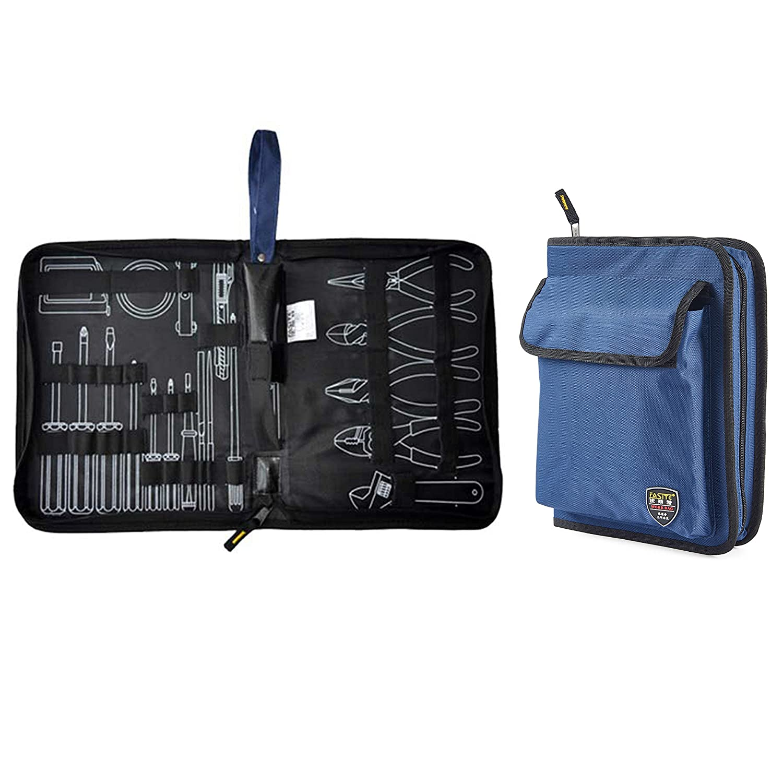 Werkzeugrolltasche Pack Rolltasche Werkzeugtasche Tasche Mehrere Fächer Schwarz