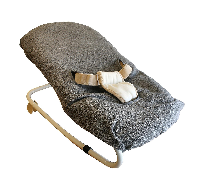 Bambisol Bezug für Liegestuhl aus Frottee, grau HT02G