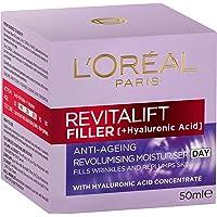 L'Oréal Paris Revitalift Filler Revolumising Anti-Ageing Day Moisturiser, with Hyaluronic Acid, Dermatologically Tested…