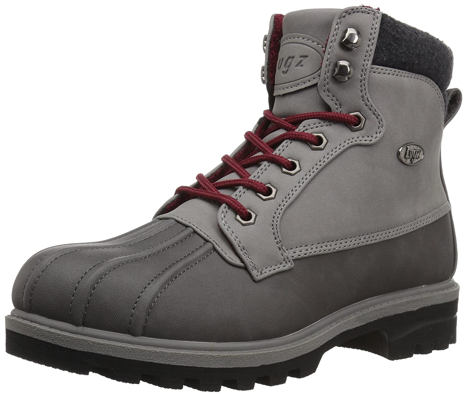 Lugz Women's Mallard Fashion Boot B073K1H1T7 8.5 B(M) US|Charcoal/Medium Grey/Black/Crimson