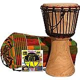 Djembe infantil 20 x 40 cm : Djembe nino + Bolsa + DVD metodo Djembe player (Español). Alta calidad djembe africano tradicional tambor, hecho a mano. Pre-estiradas cuerdas = no se desafine. Piel de cabra seleccionado. Djembe 10 DP