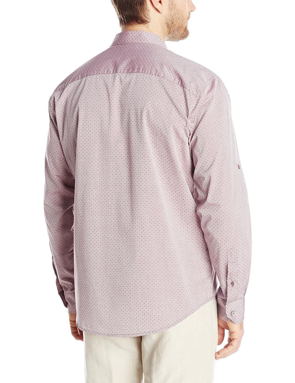 ca84769c82808 cubavera playera de manga larga para algodón Gingham con dos bolsillos  guayabera Camisa