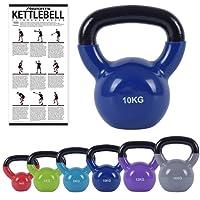 Kettlebell Professional Vinyl 2 – 30 kg inkl. Übungsposter Premium Kugelhantel