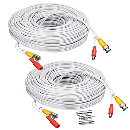 BNC CCTV DVR Cable Video Surveillance Security System Camera Coaxial Wire Cord Connector (25ft 2