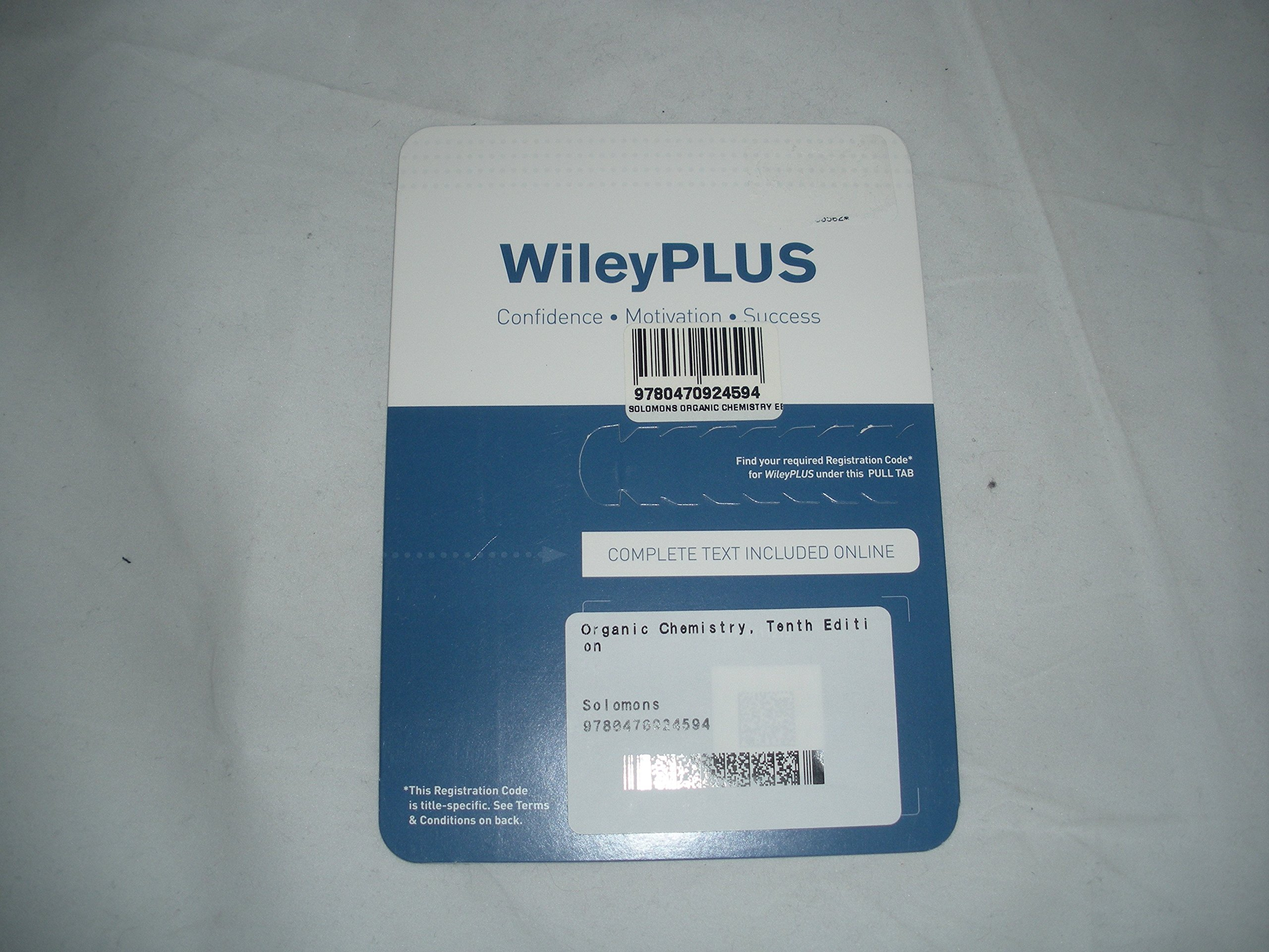 Download WileyPLUS Printed Access Card for Use With Organic Chemistry 10th Edition ISBN-13: 9780470924594 ISBN-10: 0470924594 PDF