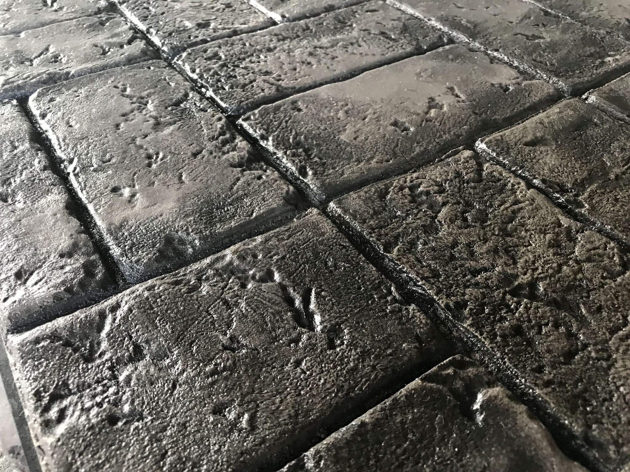Worn Brick Basketweave Single Decorative Concrete Stamp Mat (Floppy)