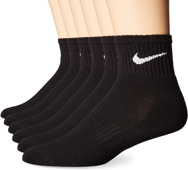 NIKE Performance Cushion Quarter Socks with Bag (6 Pairs)