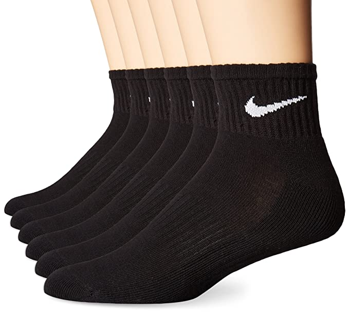 purchase original 60% cheap hot-selling professional NIKE Performance Cushion Quarter Socks with Bag (6 Pairs)