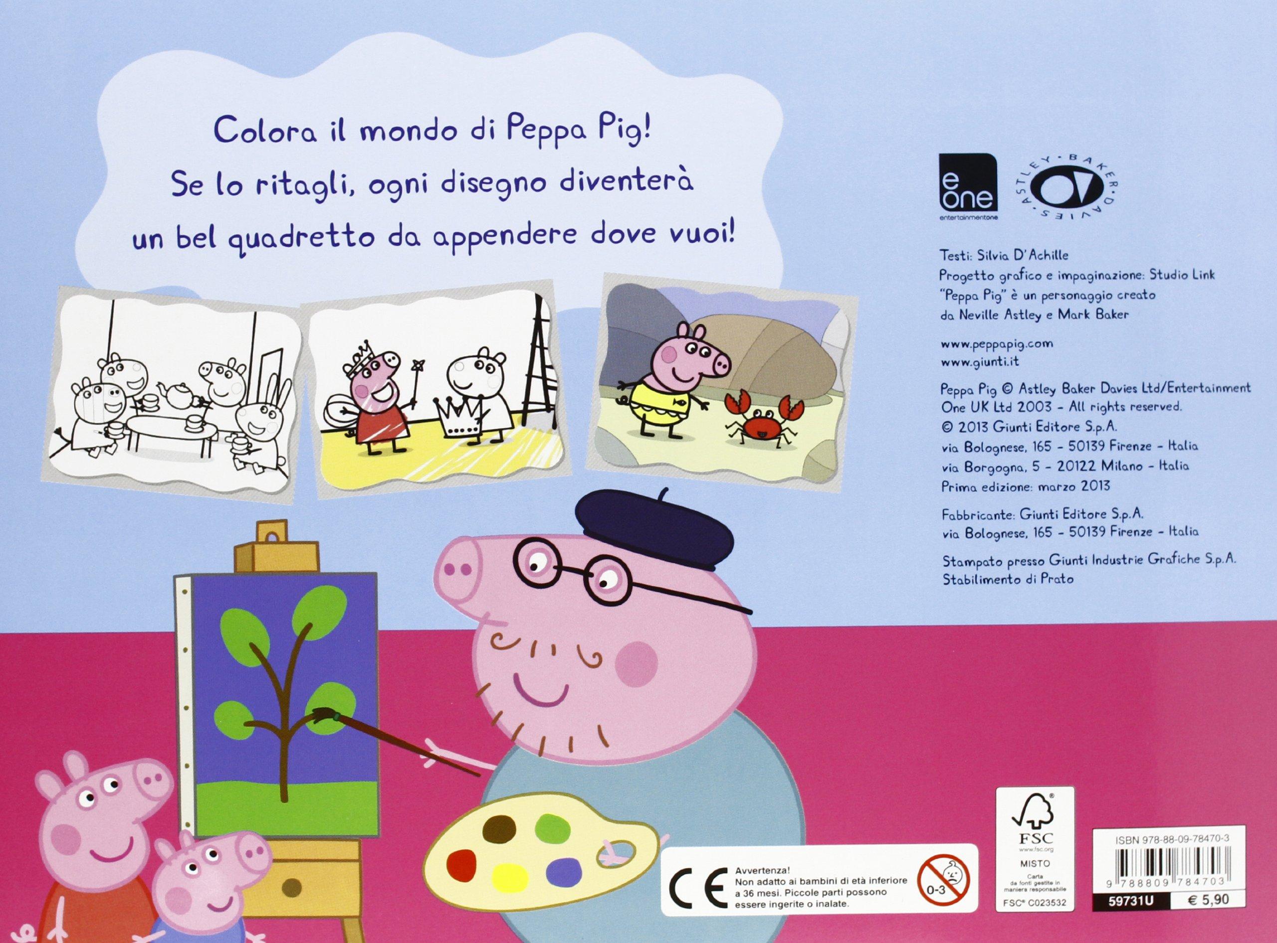 Peppa Pig: Albo Color (Italian Edition): Silvia DAchille ...