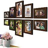 AJANTA ROYAL Synthetic Wood Photo Frames(Brown) - Set of 10