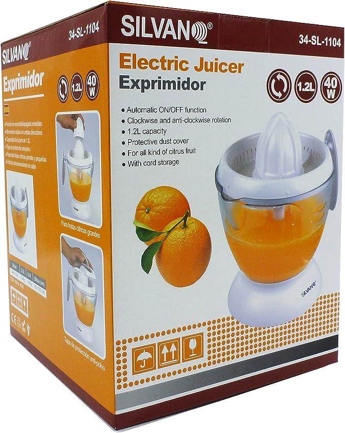 Exprimidor eléctrico de 1,2 litros: Amazon.es: Hogar