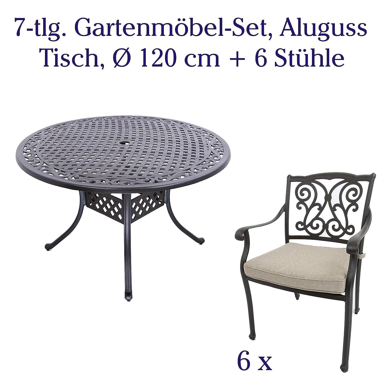 Amazon.de: Aluguss Gartenmöbel-Set, Gartenmöbelgarnitur bestehend ...