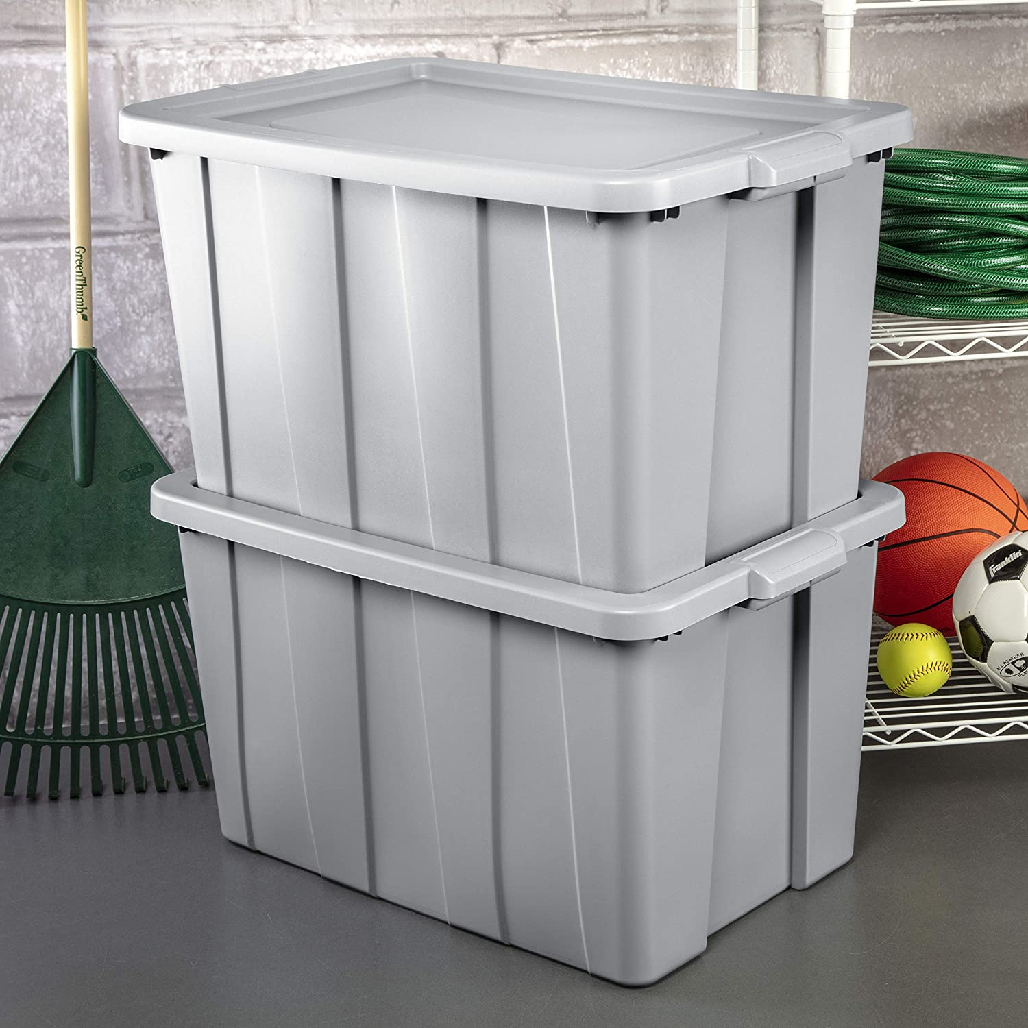 Sterilite 16796A04 Storage Tote 30 gallon Base OFFicial site Cement Lid and Tampa Mall