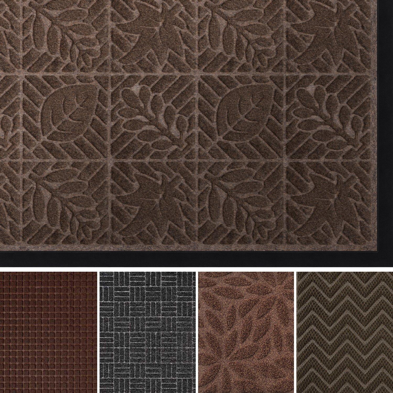 AMAGABELI GARDEN & HOME doormat13 Large Rubber Doormat Shes Scraper, 36'' x 24'', Light Brown