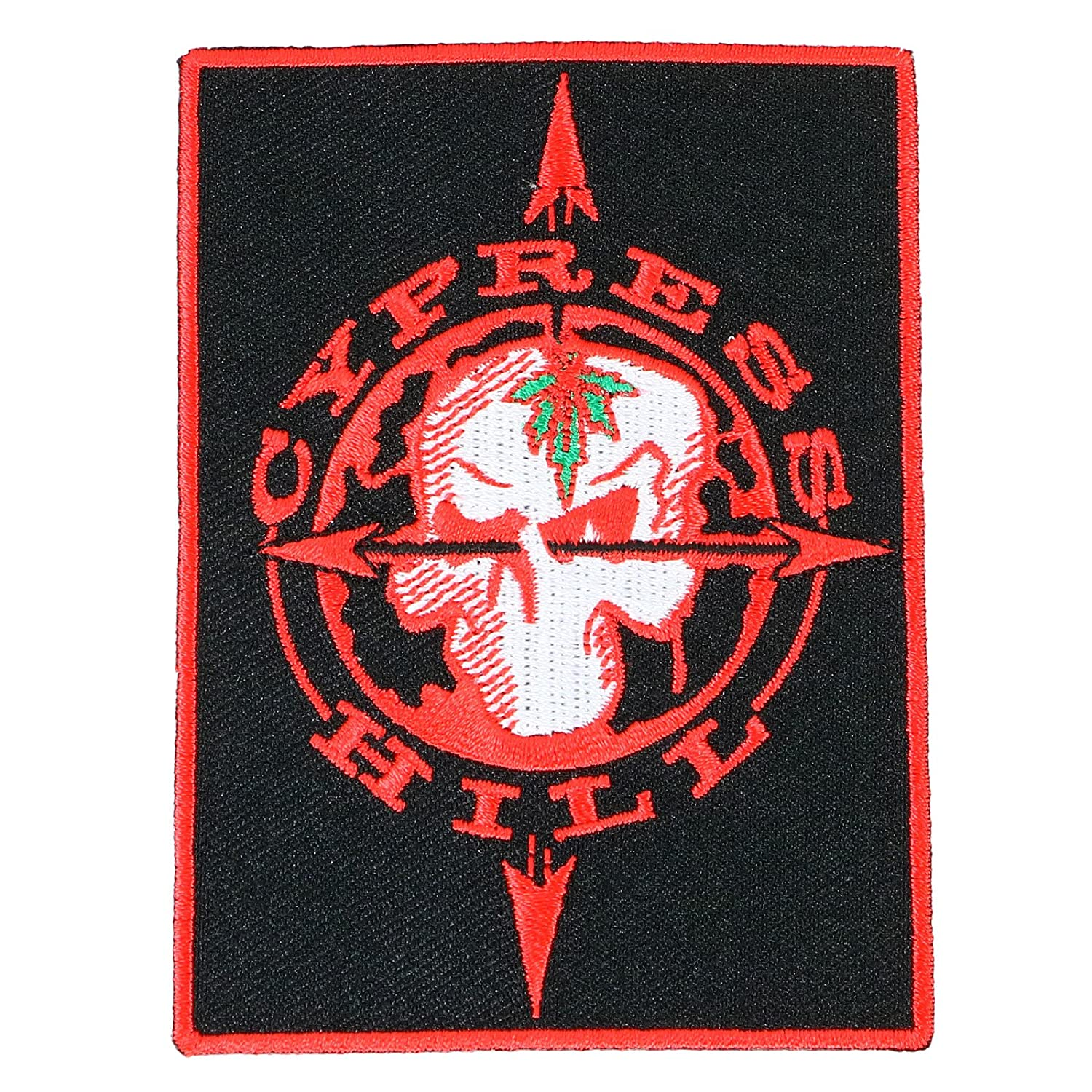 Cypress Hill Skull and Compass Sew on Glue On Patch CONTROL INDUSTRY