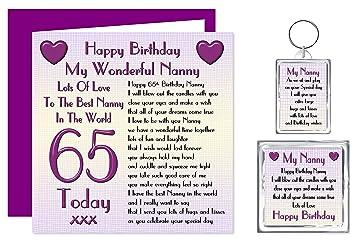 Nanny 65th Happy Birthday Gift Set