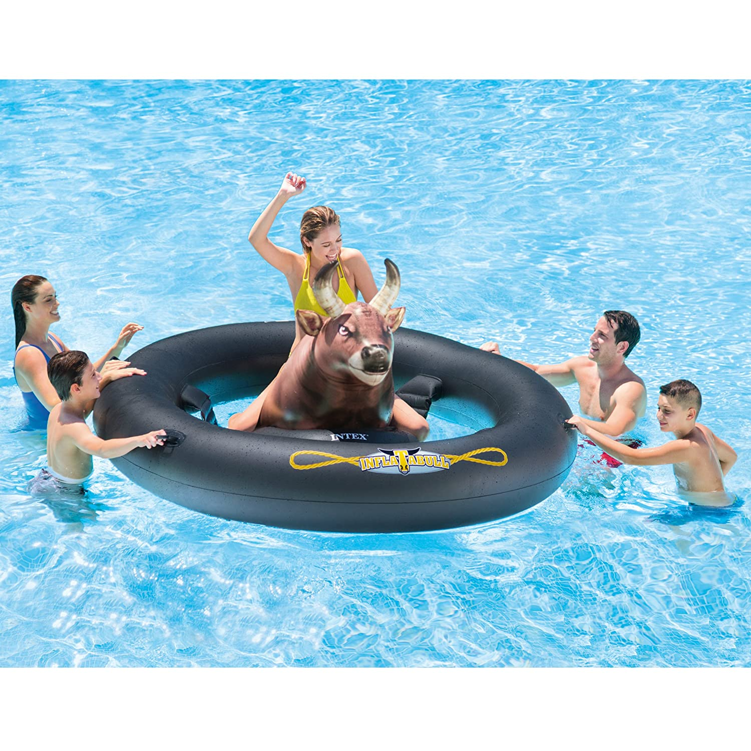 Inflat-A-Bull, Inflatable Pool Toy,