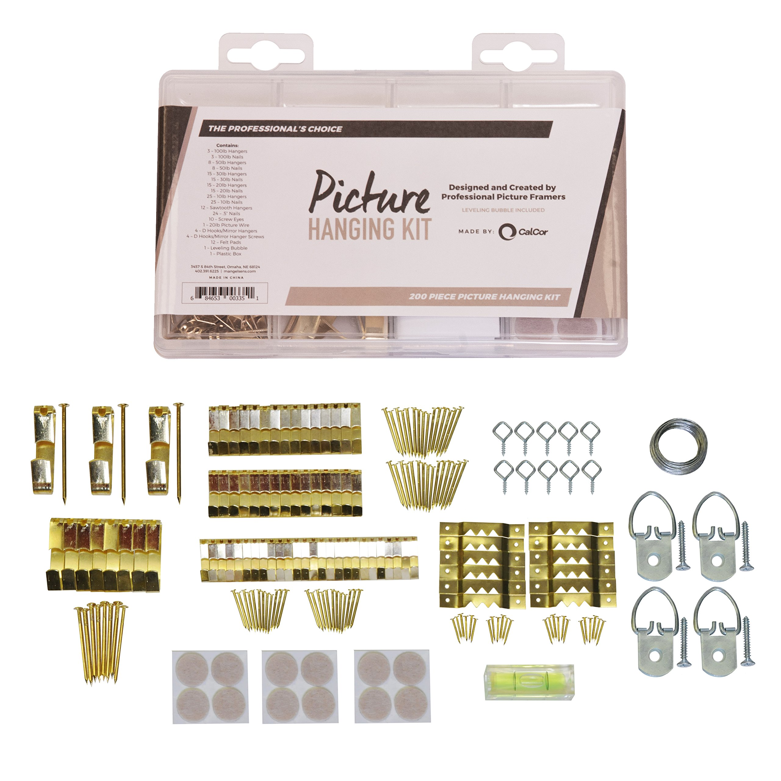 Picture Frame Hanging Kit With 200 Pieces By Calcor