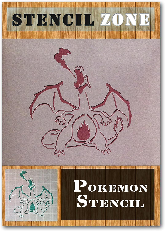 Pokemon Charizard Mylar Airbrush Peinture murale Art Pochoir A1 Taille Pochoir - Xlarge