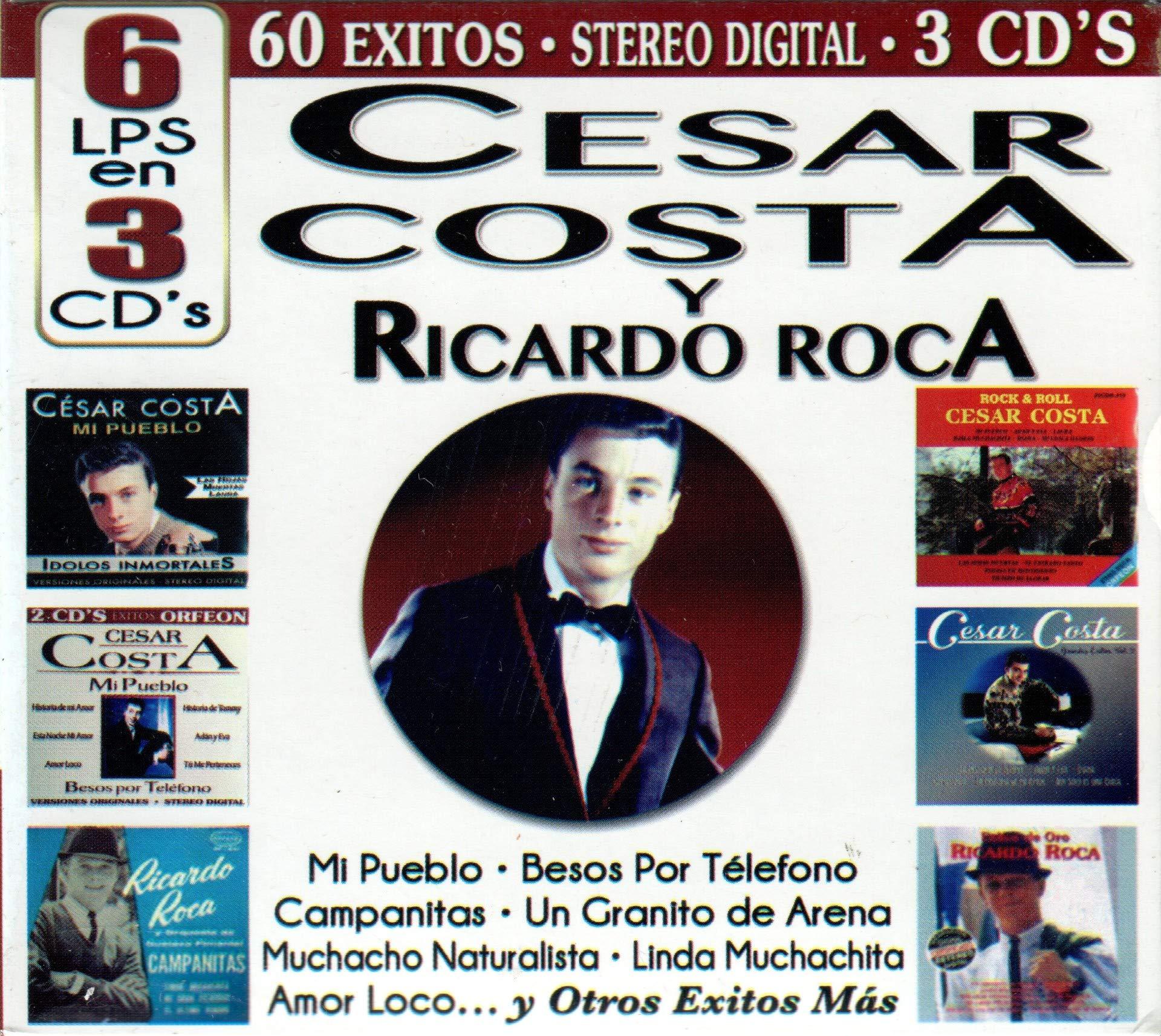 Cesar Costa - Ricardo Roca (6LPS en 3CDs, 60 Exitos) Cro3c-80022 by Catalogue Records - Orfeon