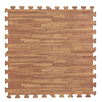 ownfun foam mats puzzle exercise mat floor mats with borders each tile 24x24quot - Puzzle Wood Flooring