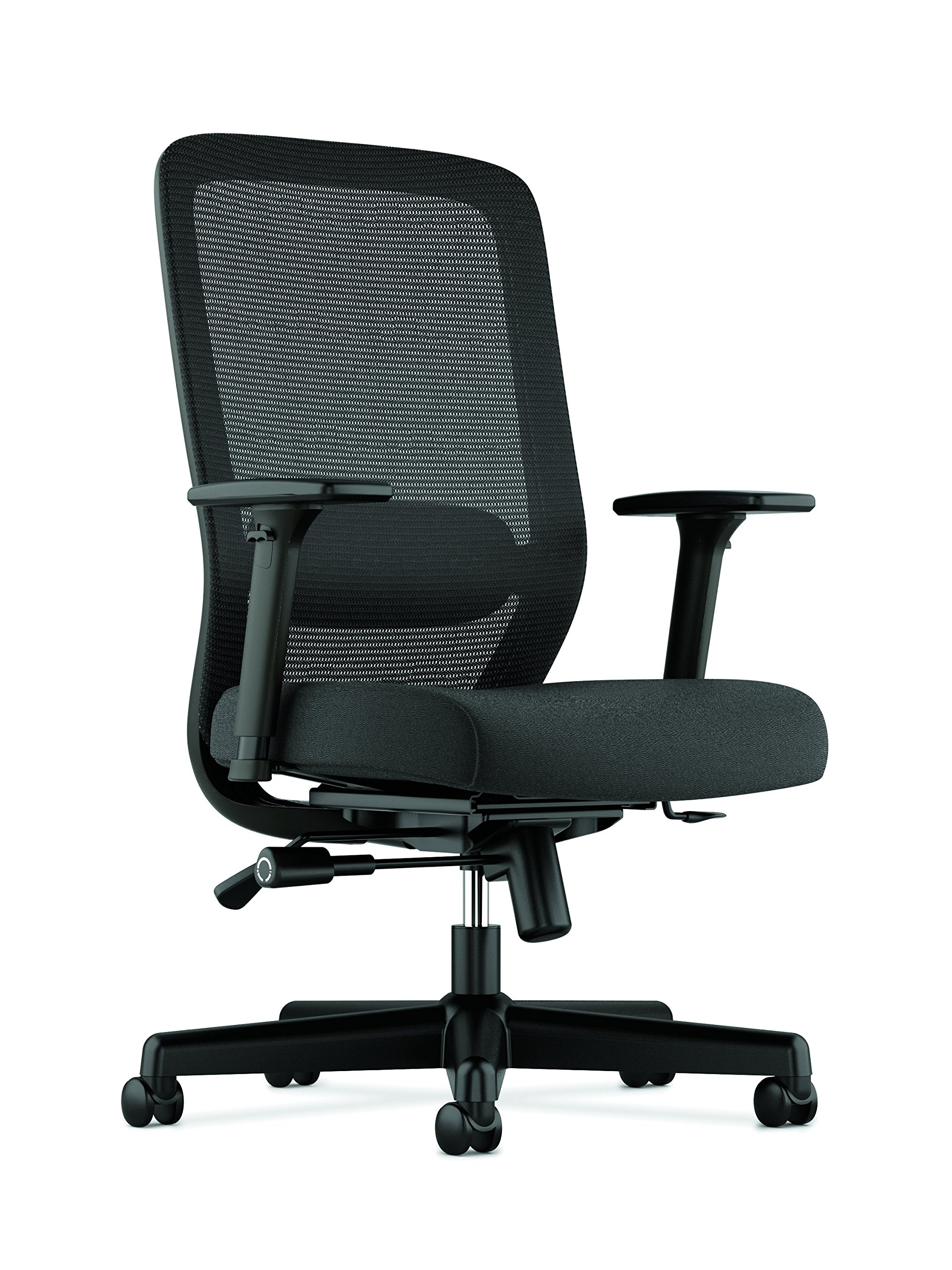HON BSXVL721LH10 Exposure Mesh Task Chair - Computer Chair with 2-Way Adjustable Arms for Office Desk, Black (HVL721) by HON