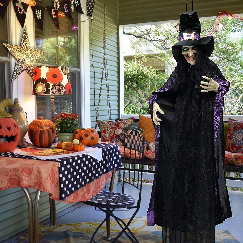 decoración de Halloween bruja animada