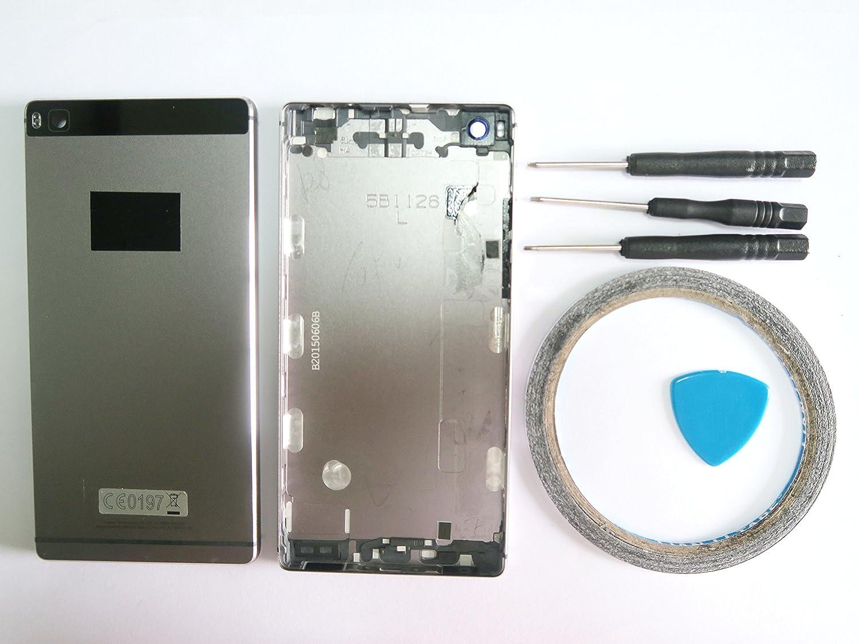 Amyahu Tapa de batería completa rígida para Huawei P8 Negro Cultivo ...
