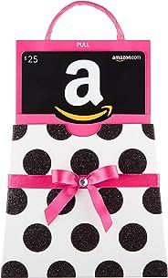 Amazon.com Gift Card in a Polka Dot Reveal (Classic Black Card Design)