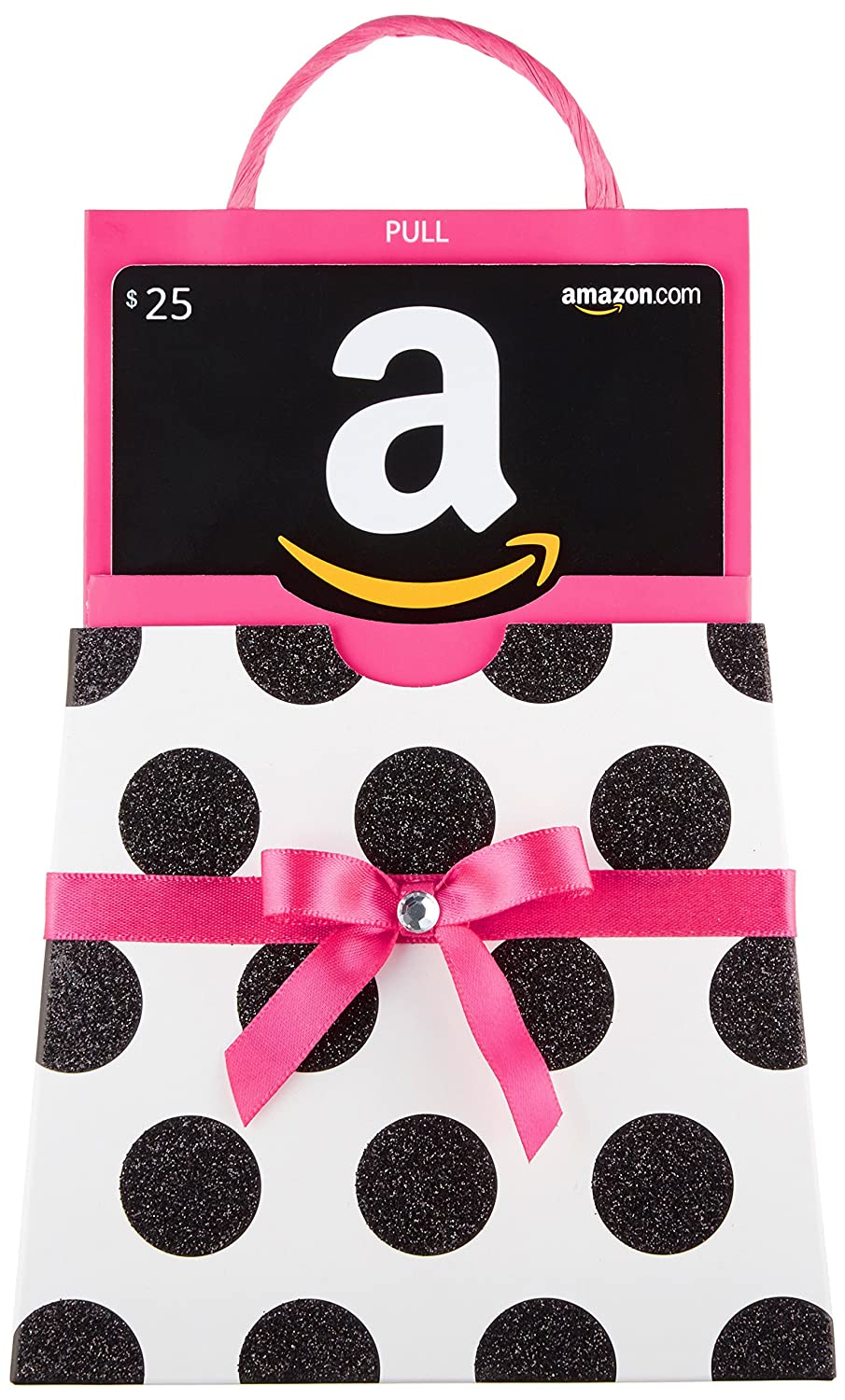 Amazon.com Gift Card in a Polka Dot Reveal (Classic Black Card Design) VariableDenomination