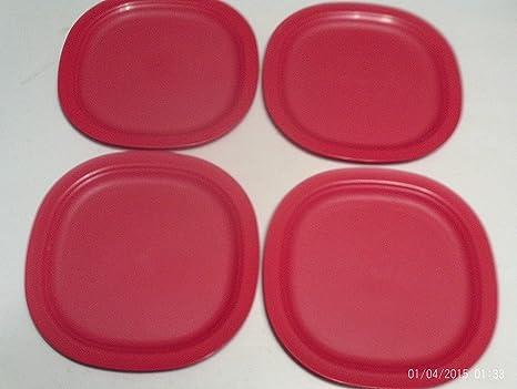 Tupperware Microondas platos de postre en vacaciones rojo ...