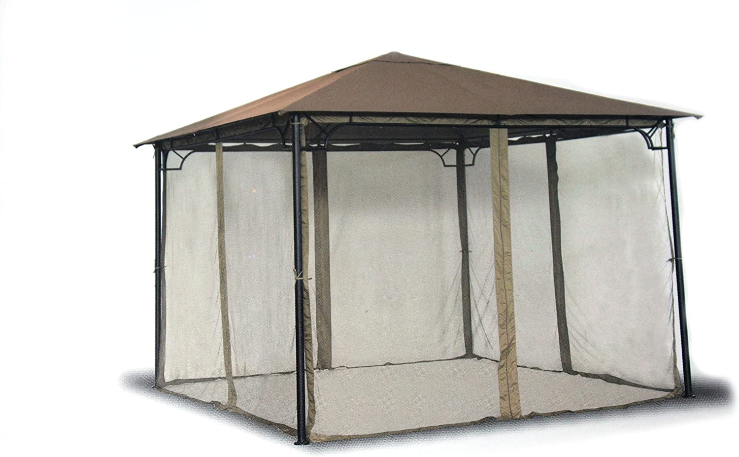 Living Accents 10ft x 10ft 4-Panel Universal Rain Proof Replacement Gazebo Mosquito Netting Gazebo sold separately