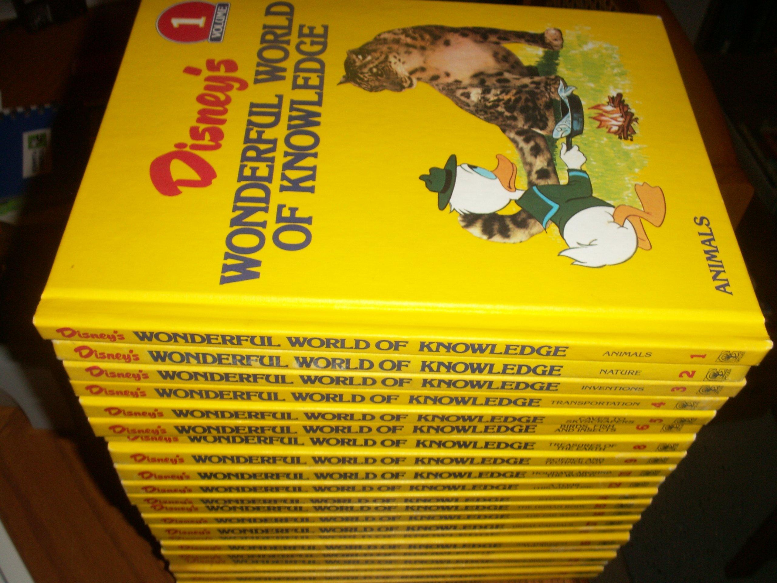 disneys wonderful world of knowledge set of 25 amazoncom books