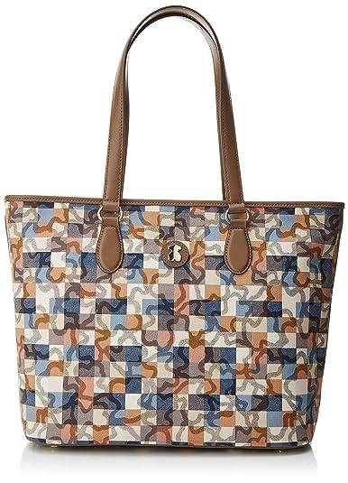 Tous Capazo Mediano Kaos Vichy, Bolso Totes para Mujer, Multicolor (Marrón/Azul), 15x29.5x38 cm (W x H x L): Amazon.es: Zapatos y complementos