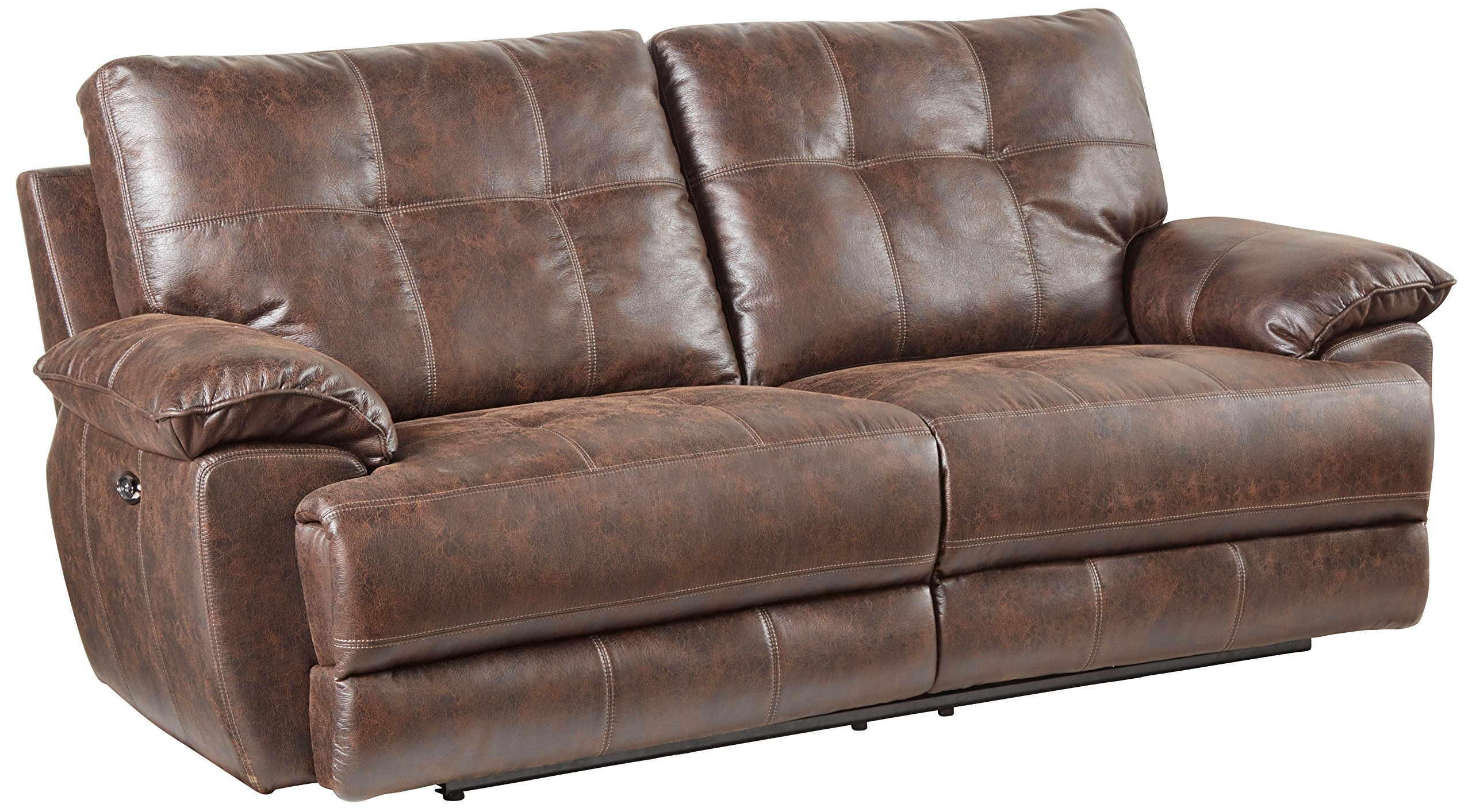 Standard Furniture 4147391 Hollister Sofa with Manual Motion, Brown