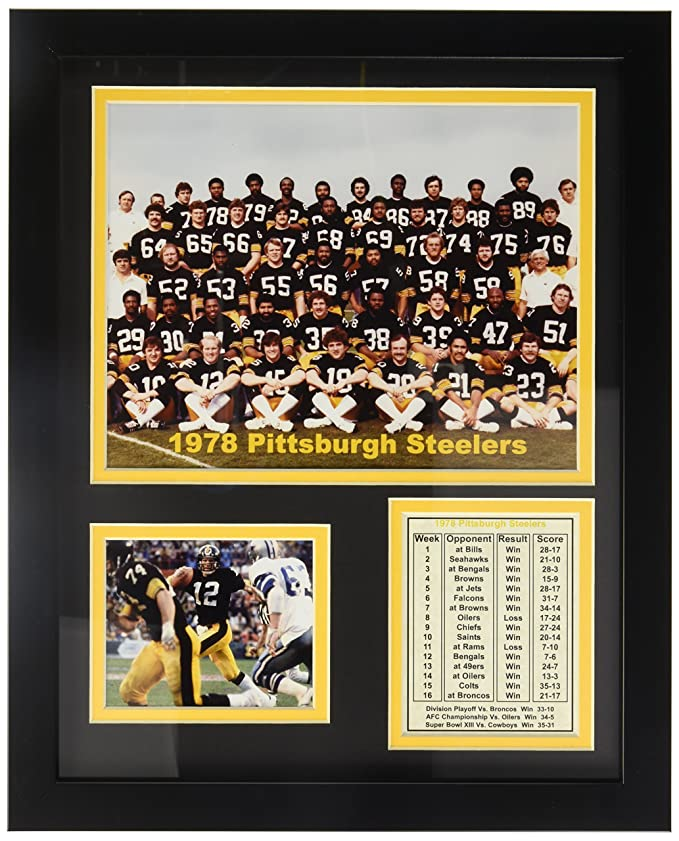 Leyendas nunca mueren 1978 Pittsburgh Steelers foto enmarcada ...