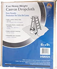 Galaxy productos hw69 paintessentials lona Drop Cloth, 6 x 2.74 metros, Natural