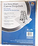 Galaxy Products HW69 Paintessentials Canvas Drop Cloth, 6 x 9-Feet, Natural