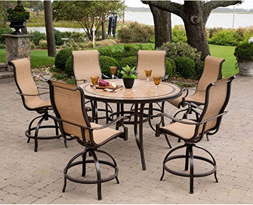 Hanover MONDN7PCBR-P Monaco 7-Piece High-Dining Set