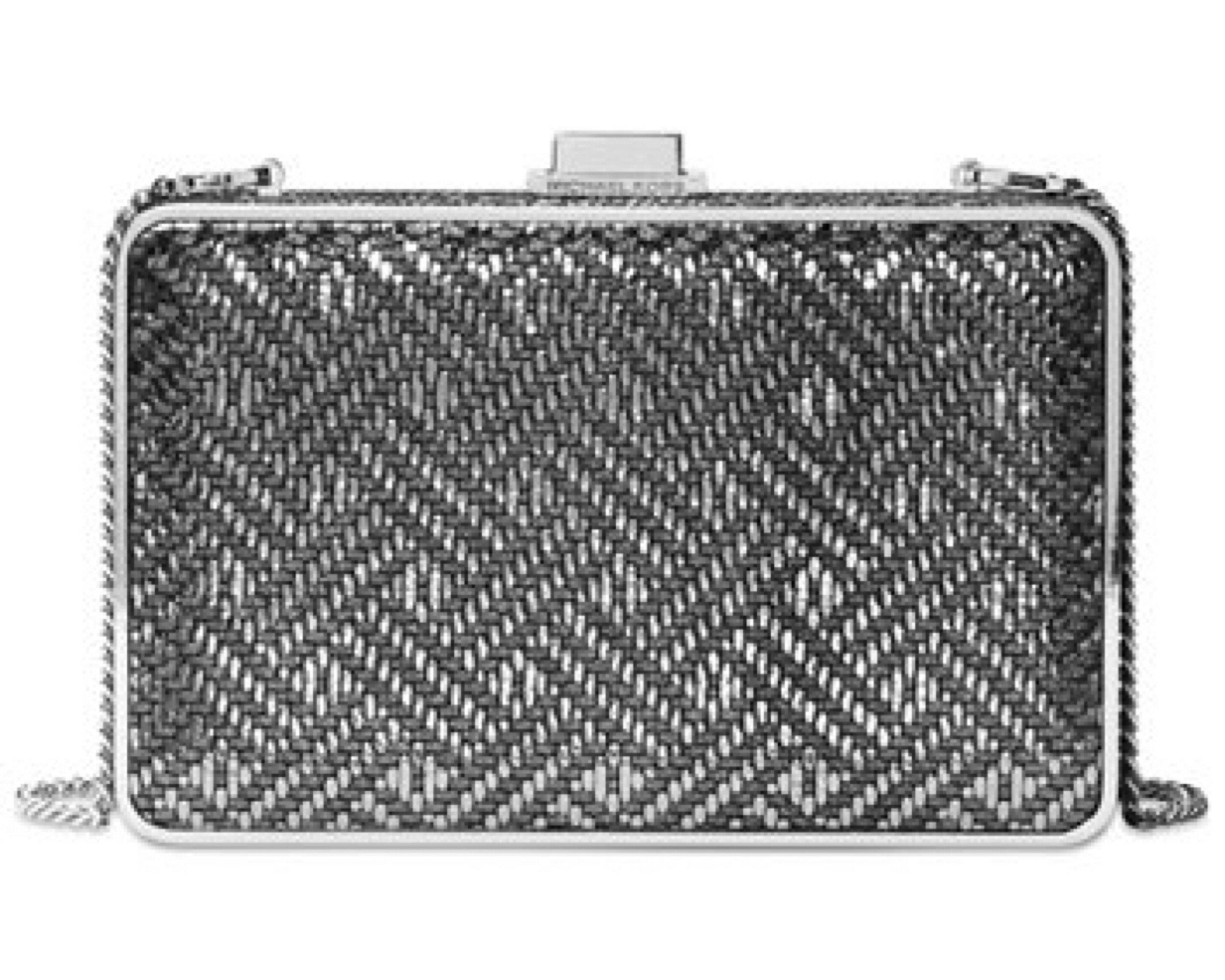 MICHAEL Michael Kors Pearl Medium Box Clutch (Silver)