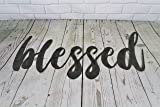 Blessed Small Size Raw Steel Unpainted Word Art