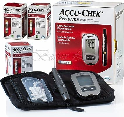 Amazon Com Accu Chek Performa Glucometer Kit With 110 Test Strips