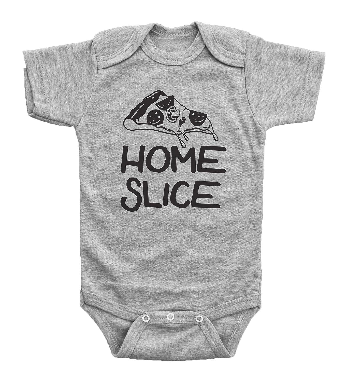 b1d41e7ec Amazon.com: Baffle Baby / Home Slice / Funny Pizza Onesie for Boys or Girls  / Bodysuit: Clothing
