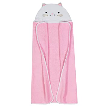 Amazon Com Just Born Boys And Girls Newborn Infant Baby Toddler Hooded Bath Towel Pink Kitty One Size Baby