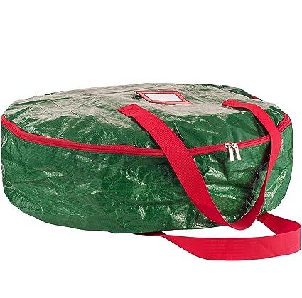 Genial ZOBER Wreath Storage Bag 30u0026quot;   Tear Resistant Material Storage Bag For Wreath  Storage With