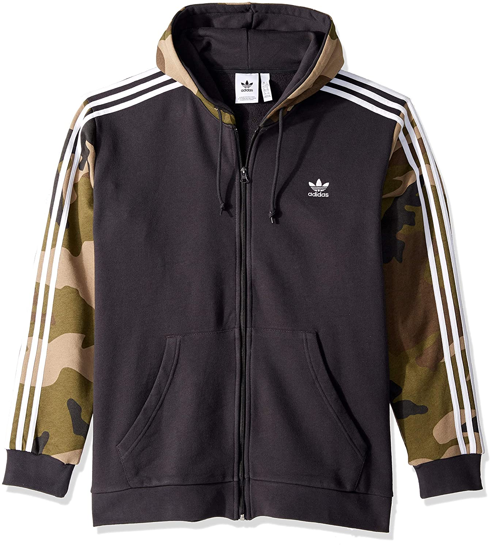 adidas Originals Slim Full Zip Hoodie In Black at